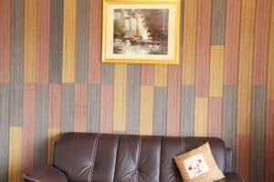 Composite decking wall background
